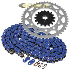 Blue O-Ring Drive Chain & Sprocket Kit Fits YAMAHA FZ-6 2009 / FZ-6R 2009-2016
