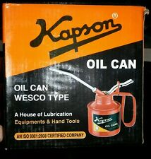 "OIL CAN 1/2 PINT ""KAPSON"" for Lubrication needs of Car, Bikes & Machines/Spares"
