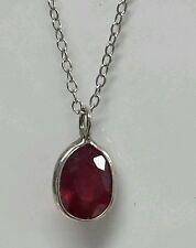 925 sterling silver pendants with 2.75ct natural Ruby. Including chain.