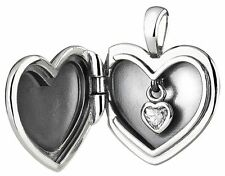 PANDORA Plain Heart Love Locket Clear CZ Necklace Pendant - 390355CZ-90