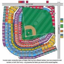 2 Tickets Chicago Cubs vs St. Louis Cardinals 6/3 Wrigley Field