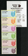 Jersey 2016 MNH Crests Post & Go Spring Stampex Local Letter 6v Strip JE01