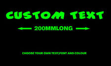 Custom Text Vinyl cut decal personalised sticker font car auto window boat