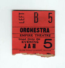 1920s EMPIRE THEATRE New York City TICKET STUB Movies THEATER Movie BROADWAY NYC