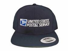 USPS Snapback Hat United States Postal Service Adjustable Cap Yupoong Dark Navy