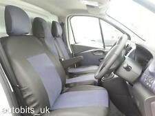 GREY BLACK FABRIC FRONT SEAT COVERS TAILORED FOR VAUXHALL VIVARO SPORTIVE 2014+