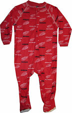 NEW Detroit Red Wings 18  Month Infant Baby Sleeper Pajamas Coverall