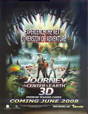 JOURNEY TO THE CENTER OF THE EARTH 3D 2008 INKWORKS PROMOTIONAL SELL SALE SHEET