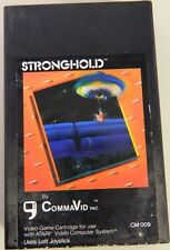 STRONGHOLD with INSTRUCTION MANUAL Commavid EXTREMELY RARE 9 ATARI 2600 or 7800