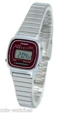 Casio LA670WA-4D Ladies Silver Classic Stainless Steel Digital Watch Alarm Timer