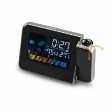 New Digital Projector Projection LED Alarm Clock Weather Station Calendar Snooze