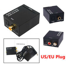 Digital Optic Coaxial RCA DAC Toslink Signal to Analog Audio Konverter Adapter