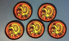 5 Lot Shotokan Dragon Karate Do MMA Martial Arts Uniform Gi Small Patches 300