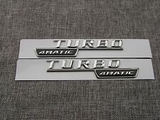 TURBO 4MATIC Number Letters Trunk Emblem Decal Sticker 2pcs for Mercedes Benz