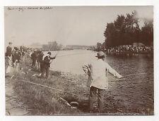 PHOTO Vintage Vers 1900 SENS FRANCE YONNE Concours de pêche à la ligne Amateur