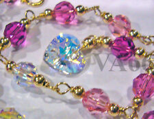 14K Gold Crystal Anklet Custom Made Gelang Kaki Suasa Emas Color Size Jewelry