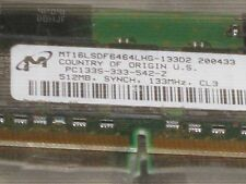 MICRON  512MB SDRAM  PC133  CL3 32X8 16CHIPS 144PIN SODIMM LOW DENSITY