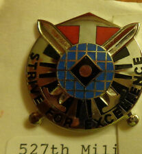 ,CREST,DI,527TH MILITARY INTELLIGENCE BATTALION, CLUTCH BACK,G23 HALL MARK