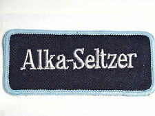 """Alka-Seltzer"" Hang Over Cure Sew on Cloth Patch Badge 1970's"