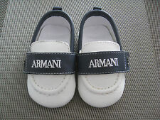 Brand New Genuine Armani Baby Boy Pram Leather Shoes Size 17  3-6Months