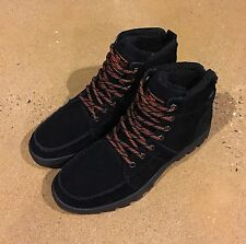 DC Woodland Boots Men's Size 10.5 Black Moc Toe Winter Boots BMX MOTO Sneakers