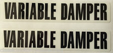 YAMAHA RD350 YPVS 31K LC2 RD350F VARIABLE DAMPER FORK CAUTION WARNING DECALS X 2