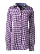 Lands End - Womens PS (6P/8P) - NWT  Iris Purple Gingham Plaid Flannel Shirt