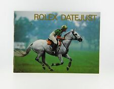 Rolex Datejust Booklet Manual 1988 English