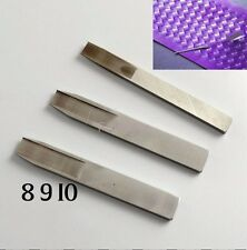 1 Set 8/9/10mm DIY leather Craft Tool Weaving Tool Leather Cutter Punch