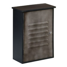 New York Loft Wall Cabinet 1 Door Black With Grey Metal Furniture Home Bath New