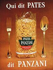PUBLICITE ADVERTISING 124  1966  PANZANI   pates