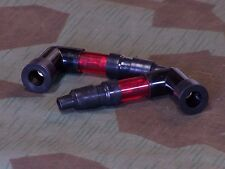 Harley 2 RED SPARKIES Spark Plug Boots. Fits Any Scoot With 90 Degree Caps