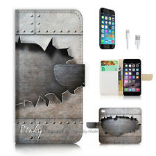 iPhone 6 6S (4.7') Flip Wallet Case Cover P2350 Iron Wall