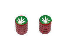 Marijuana Leaf - Pot Motorcycle Bike Tire Valve Stem Caps - Colors