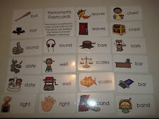 23 Homonyms Flashcards.  Preschool thru 4th grade educational flashcards. Lami
