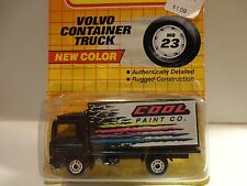 "Matchbox #23 Black w/""Cool Paint"" Volvo Container Truck"