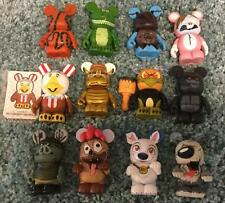 Set Lot 12 VINYLMATION Disney Zombie Bunny Chaser Animals Dogs Max Bolt Snake