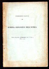 Federico Sacco,Schema geologico dell'Istria, Estr. Universo, 1924 carta ripieg.