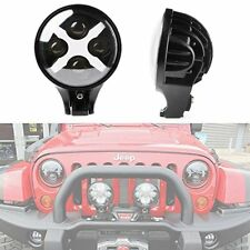 "6"" 60 Watt LED Spotlight and Round Work Lamp X DRL Turn Signal Jeep Offroad"