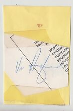 VIC HADFIELD SIGNED CUT AUTO AUTOGRAPH NEW YORK RANGERS JSA STICKER