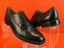 NIB GUCCI BLACK LEATHER CEZANNE WINGTIP PERFORATED DERBY OXFORDS 12.5 13.5