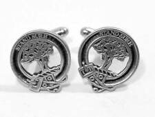 Scottish Clan Anderson Crest Cufflinks, English Pewter, Handmade, Gift Boxed (H)