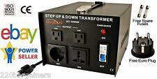 Simran AC-3000W Power Source Converter 110V-220v Up Down Transformer 3000 Watt W