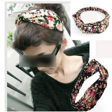 Fashion Women Cotton Turban Twist Knot Head Wrap Headband Knotted Hair Band