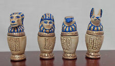 Dolls house Miniature Artisan Handmade Set of 4 Canopic Jars