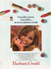 PUBLICITE ADVERTISING 074  1969  BARBARA GOULD  cosmétiques  lèvres