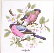 "Bullfinch Ceramic Tile Finch Song Bird 4.25"" Kiln Fired Decor Back Splash"
