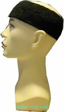 football sweatband Sports running wide Head Band Black