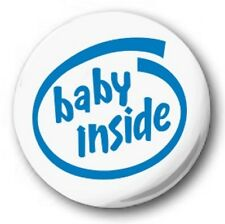 Baby Inside - 1 inch / 25mm Button Badge - Intel Spoof Pregnant Mother Expecting