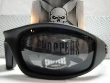 MOTORCYCLE BIKER SPORT RIDING PADDED Choppers GLASSES GOGGLES Dark Black Lens